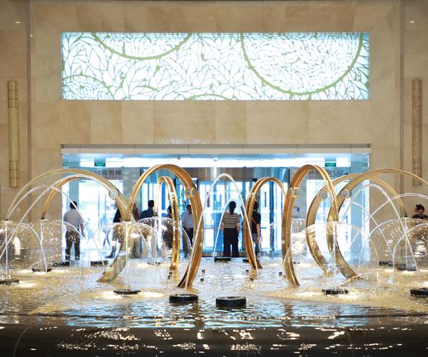 北京安嘉律师事务所办公楼:环球国贸中心接待大厅内景图